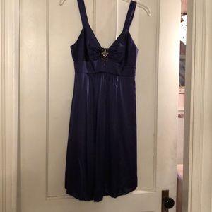 Rebecca Taylor navy silk dress